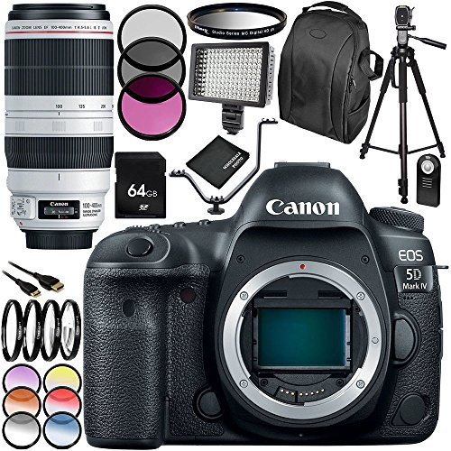 Buy Cheap Canon EOS 5D Mark IV DSLR Camera with EF 100-400mm f/4.5-5.6L is II USM Lens 28 PC Accesso...
