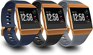 AIUNIT Compatible Fitbit Ionic Bands for Men Women Teens Kids Large Small, Strap Sport Accessory Wristband with Original D...