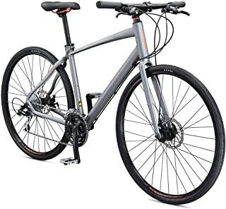 Schwinn Vantage F2 700c Sport Hybrid Road Bike with Flat Bar and Disc Brakes, 55cm/Small Frame, Matte Grey