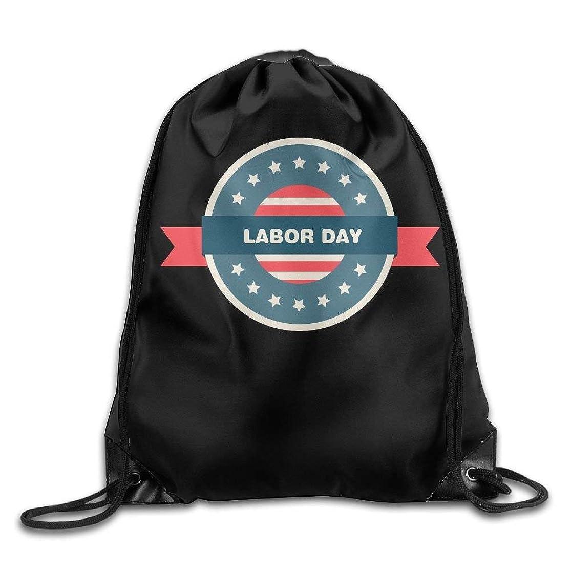 Unisex USA Flag Labor Day Print Drawstring Backpack Rucksack Shoulder Bags Gym Bag Sport Bag zlvmmlhh8