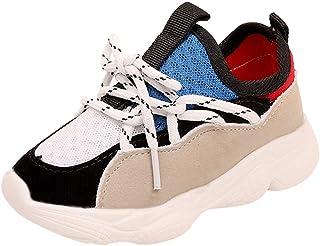 WEXCV Uniseks baby jongens meisjes sneakers kleurafstemming gymschoenen antislip ademend met zachte zool vrijetijdsschoene...