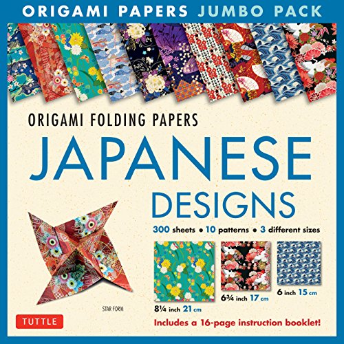 Compare Textbook Prices for Origami Folding Papers Jumbo Pack: Japanese Designs: 300 High-Quality Origami Papers in 3 Sizes 6 inch; 6 3/4 inch and 8 1/4 inch and a 16-page Instructional Origami Book Book and Kit ed. Edition ISBN 9780804847292 by Tuttle Publishing