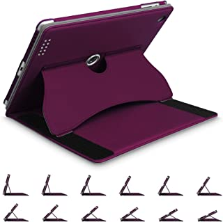 Fintie iPad 2/3/4 Case - [Multi-Angle Viewing] 360 Degree Rotating Smart Stand Cover with Auto Sleep/Wake Feature for Apple iPad 4th Gen with Retina Display/iPad 3 / iPad 2, Purple