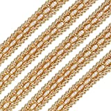 FINGERINSPIRE Gold Braid Trim 5/8' X 12.5 Yards Polyester Ribbon Woven Gimp Fringe Trim for Costume DIY Crafts Sewing Jewelry Making Home Decoration