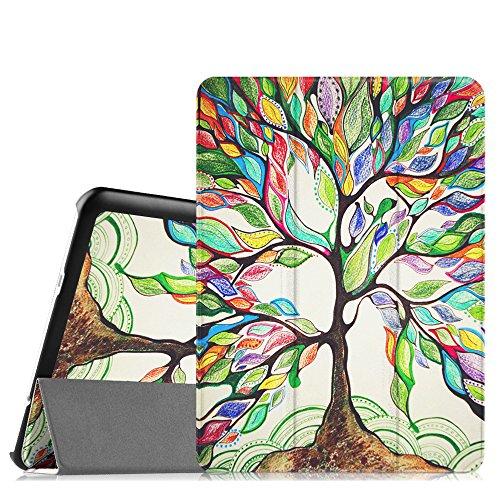 Fintie Hülle für Samsung Galaxy Tab S2 9.7 T810N / T815N / T813N / T819N 24,6 cm (9,7 Zoll) Tablet-PC - Ultra Schlank Ständer Cover Schutzhülle mit Auto Schlaf/Wach Funktion, Liebesbaum