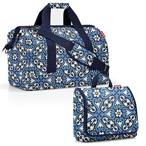reisenthel Allrounder L mit toiletbag XL und wahlweise mit extra Zugabe Reisetasche Waschtasche (floral 1)