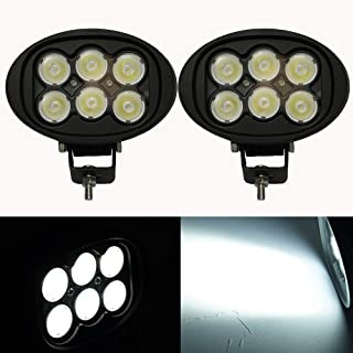 2pcs Flood Oval Led Driving Light Kit Off-road 6inch Cree Led Work Auxiliary Light 45W (real power) 5400Lm for Jeep Ford F150 Truck Tractor Industrial 4x4 ATV UTV Forklift Mining Farm 4WD 12v 24v