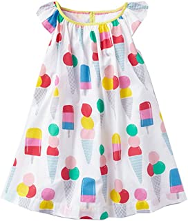 64138a722bf VIKITA 2018 Toddler Girls Summer Dresses Short Sleeve Outfit 3-8 Years