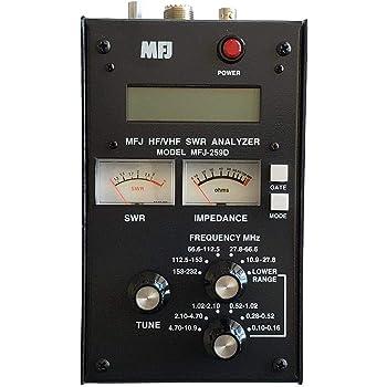 Amazon Com Swr Antenna Analyzer Mfj 259c Hf Vhf 0 53 230mhz