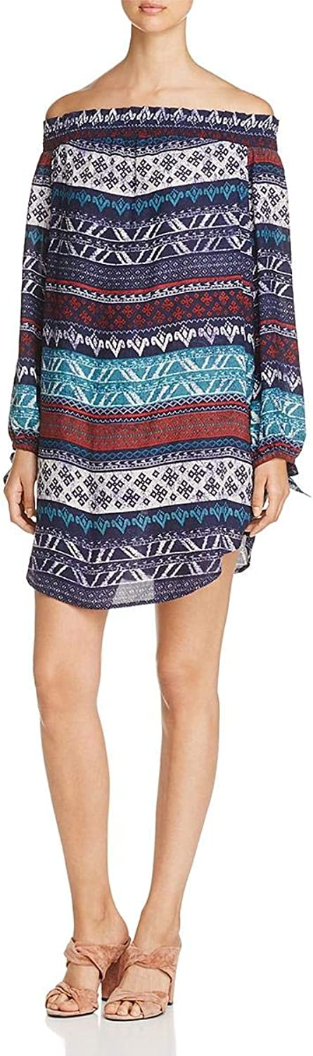 Beach Lunch Lounge Womens Mini OffTheShoulder Cocktail Dress