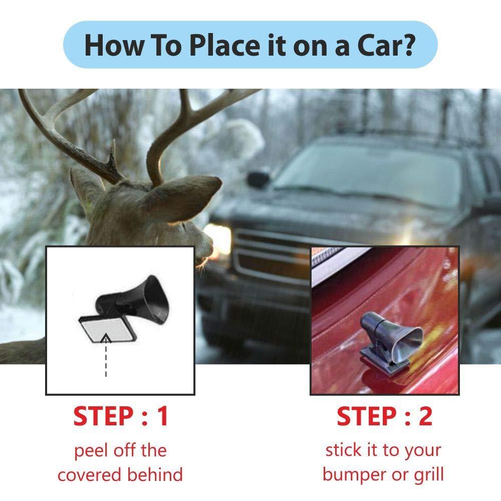 bobotron 4Pcs Save A Deer Whistles Deer Dispositivos de Advertencia para Autom/óviles Y Motocicletas SUV ATV Deer Collisions Auto Deer Warning Ultrasonic Wildlife Warning