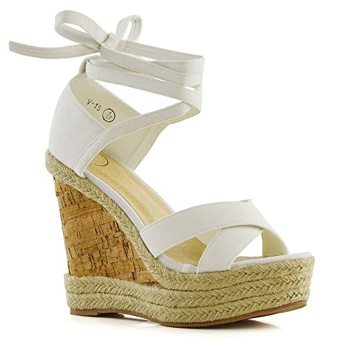 f722c0d4097 Wedge Lace Up Espadrilles: Amazon.com