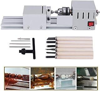 TopDirect 24V 80W Mini Beads Torno máquina de la carpintería de bricolaje Torno