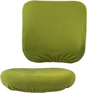 non-brand Sharplace Cubiertas para Sillas de Oficina Revestidas con Forro Suave y Removible - Amarillo Verde