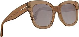 FT0613 Beatrix-02 Sunglasses Shiny Light Brown w/Brown Gradient Lens 52mm 45F FT613 TF 613 TF613