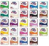 Lot de 24 pâtes à modeler 'FIMO Soft'