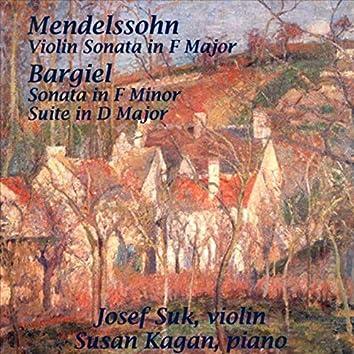 Bargiel: Violin Sonata In F, Op. 10; Suite In D, Op. 17