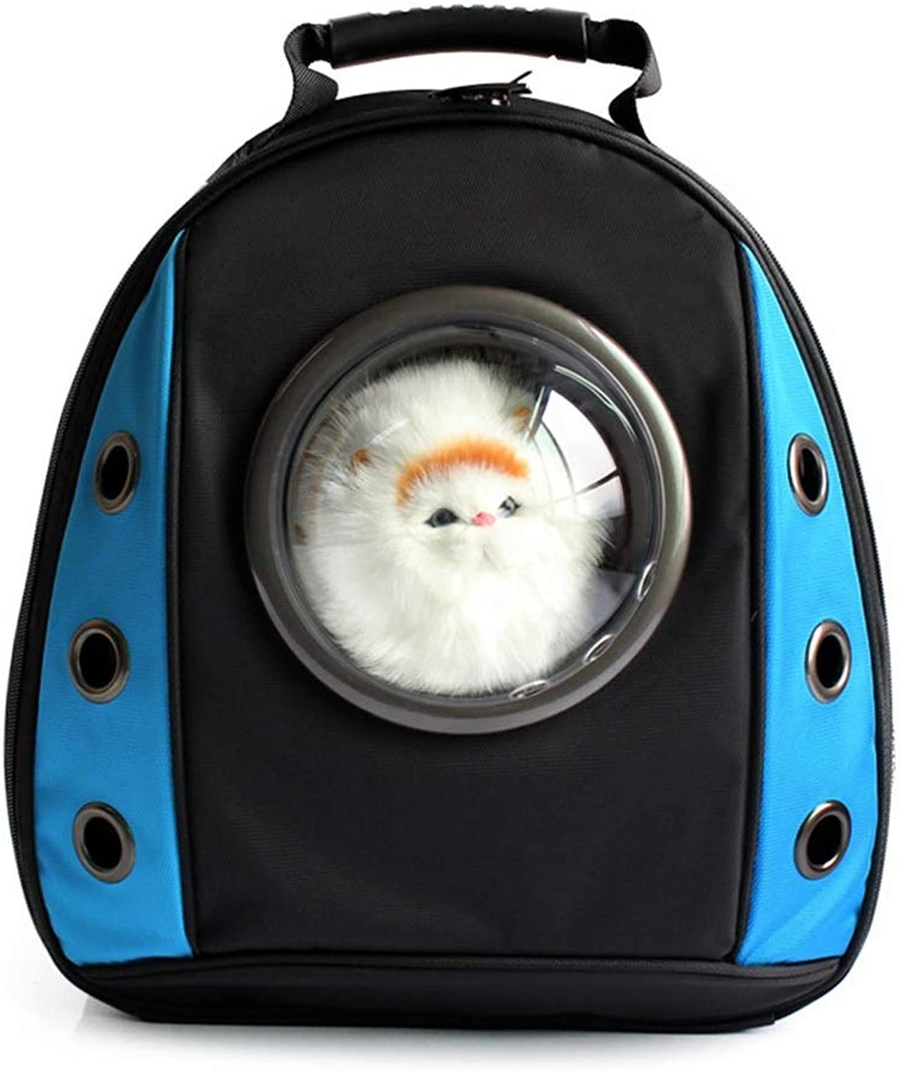HYUE Pet Space Cat Bag Chest Pack Vapourous Backpack Dog Space Backpack (color   bluee, Size   34  22  41cm)
