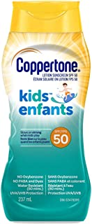 Coppertone Kids Sunscreen Lotion Spf 50, Hypoallergenic Sun Protection for Children, Water Resistant Face and Body Lotion ...