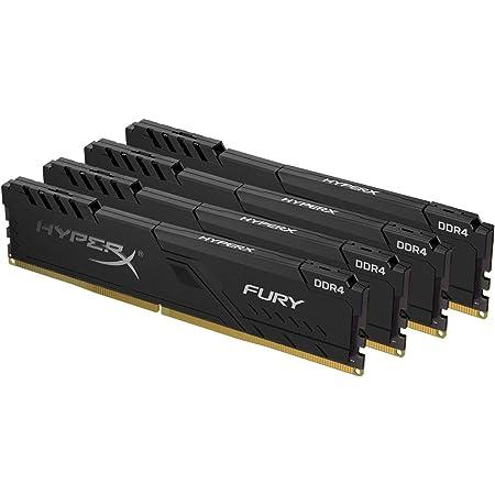 HyperX FURY Black HX432C16FB3K4/16 Mémoire 16Go Kit*(4x4Go)3200MHz DDR4 CL16 DIMM