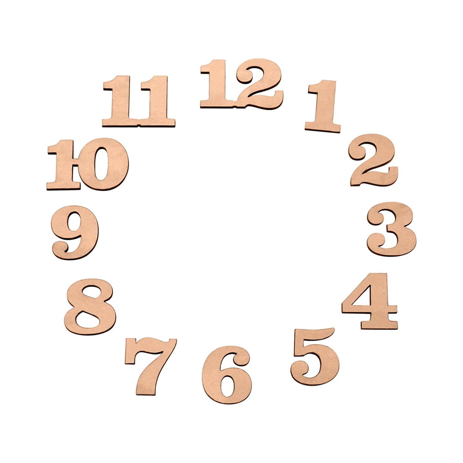 1 inch Wood Clock Number Set of 12