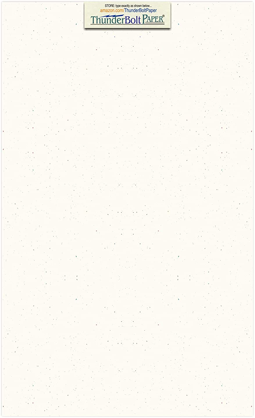 100 Confetti White 65lb Cover Card Paper - 8.5 X 14 Inches Legal & Menu Size - 65 lb/Pound Light Weight Cardstock - Quality Printable Smooth Surface for Bright Colorful Results