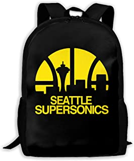 Seattle Supersonics Unisex Backpack Shoulder Bag School Backpack Travel Bags Laptop Backpack