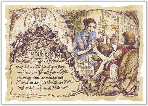 Die Staffelei Geschenk Fußpflege Fußpfleger Podologie Zeichnung Color 20 x 15 cm