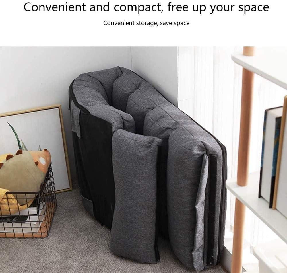 Chaise De Bureau Canapé Lazy avec Dossier Chaise Longue Pliante Simple Chaise De Méditation Amovible Et Lavable - Gris Vert