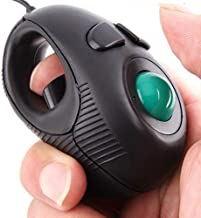 Ergonomic Handheld Trackball Mouse Wired Mini USB Portable Finger Travel Computer Right..