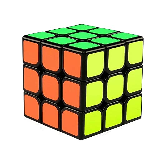 The Cube 3x3x3 Speed Cube/ 3D Puzzle Game by Funlovers/ Classic 3x3 Magic Speed Cube / Best Size 5.6*5.6cm Brain Teasers/ Smooth Twist with Original Magic Cube Colours / not created and sold by Rubik