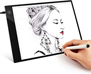 Led Light Box SIKIWIND A4 Ultra-Thin Portable Tracing Light Box Stepless Adjustable Brightness with USB Power Cable for 5D DIY Diamond Painting - Sketching - Artists Drawing and Animation etc(Black)