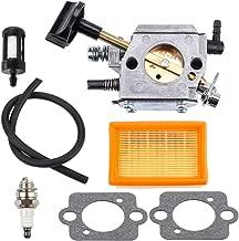 Kizut BR400 Carburetor for Stihl BR 400 Blower BR340 BR320 BR380 BR420 Backpack Blowers Carb with Air Filter Fuel Line Kit 4203-120-0603 4203-120-0605