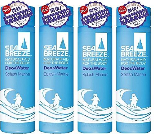 [Compra a granel] Sea Breeze Deo & Water Splash fragancia marina 160 ml (droga cuasi) x4