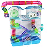 Pet Ting Cage Hamster Jasmin Large avec Tubes de Course Gerbille Souris Hamsters Nains Syriens