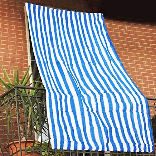 Tende da Sole per Esterno con Anelli a Caduta su Misura Made in Italy Stoffa Tessuto Impermeabile Antimuffa Teli Parasole Laterali Gazebo Balconi Terrazzo Veranda Camper Righe Beige, 140 X 290cm