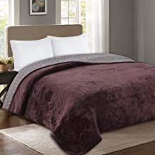 Solid Color Quilted Blankets Bedspread Thicken Flannel Bed Sheets Linens Bedding Single Double People Coverlets,Grey-singl...