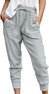 Sponsored Ad - ROSKIKI Womens Casual Sweatpants Drawstring Waist Jogger Pants with Pockets
