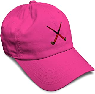 Custom Soft Baseball Cap Sport Field Hockey Stick Embroidery Twill Cotton