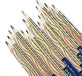 Juego de lápices de colores 4 en 1, arco iris, lápices de colores, lápices mágicos para dibujo, colorear y dibujar, (30 unidades)