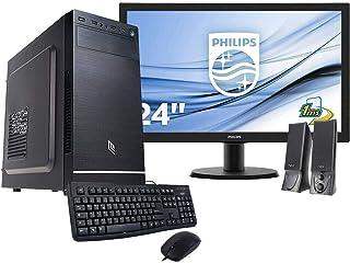 Pc desktop completo intel quadcore 2.00ghz,ssd 240gb,ram 8gb computer fisso completo,monitor 24