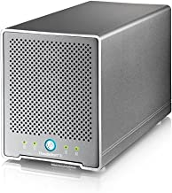 AKiTiO 4Bay, 2.5'' External Storage Enclosure (2xThunderbolt3 Ports, 1xDIsplayPort, Hardware RAID and Comes with Thunderbolt Cable)