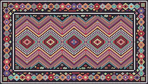 WIVION Teppich Im Modernen Stil Mehrfarbiger Bunter Geometrischer Boho-Ethno-Stil Superweicher Teppich Geeignet Als Schlafzimmerteppich Wohnkultur Kinderteppiche Kindermatte,150 * 200cm(59x79inch)