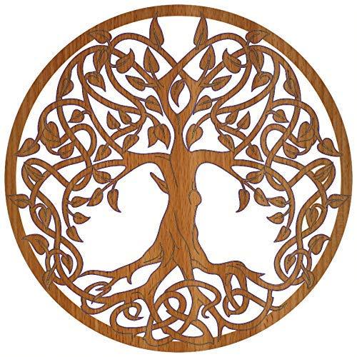 Keltik Baum des Lebens Holz Ø 39 cm | Kontur | Dekoration | Wandbild | Wanddeko | Verschiedene Designs