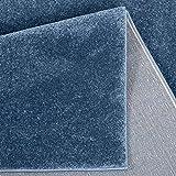 Taracarpet Kurzflor-Designer Uni Teppich extra weich fürs Wohnzimmer, Schlafzimmer, Esszimmer oder Kinderzimmer Gala dunkel-blau 120×170 cm - 6
