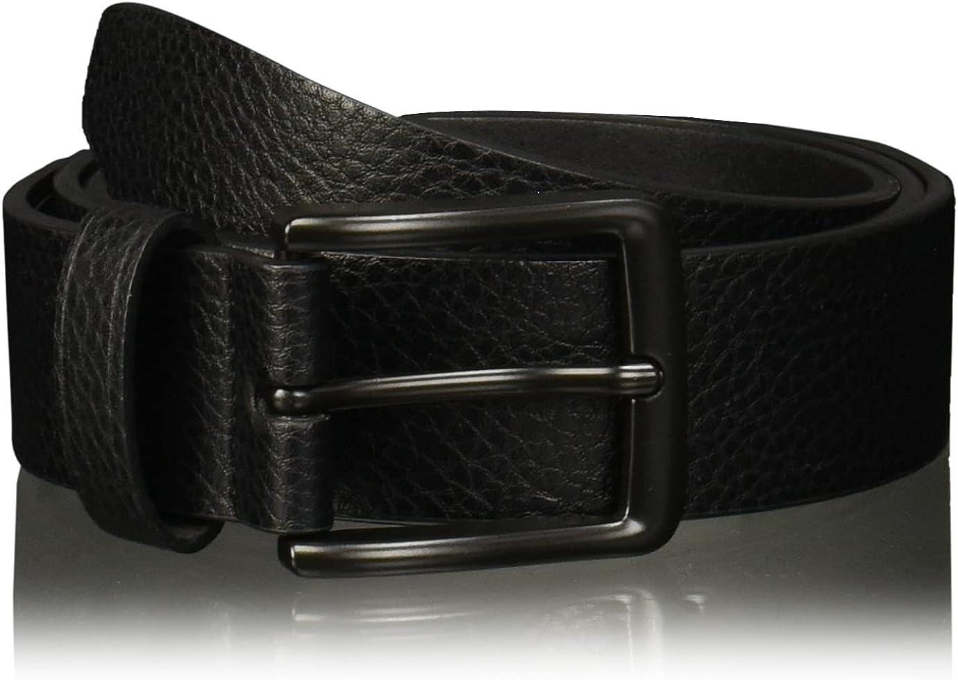 Perry Ellis Men's Portfolio Nickel Buckle Casual Belt