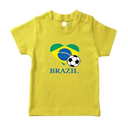 d198c5c8e Cute Rascals Brazilian Soccer Brazil Futbol Football Cotton Short Sleeve  Crewneck Unisex Toddler T-Shirt