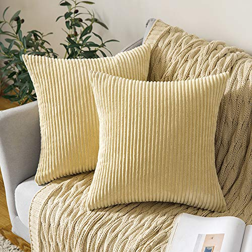 Our #7 Pick is the MIULEE Corduroy Pillow Covers