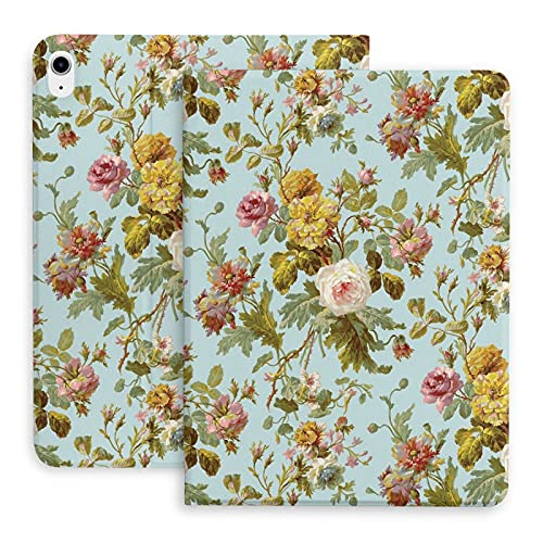 Vintage Floral Pattern Cool The protective case is suitable for iPad Air 4th generation. Stand case
