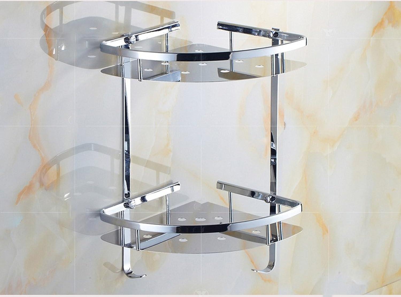 Jinyidian'Shop-Bathroom 304 Stainless Steel Corner Basket Corner Rack Bathroom Pendant Basket Rack